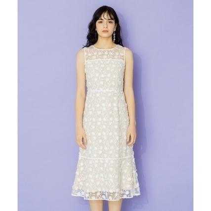 Eyelash Embroidery ロングドレス