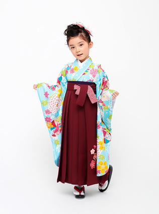 まりと折り鶴 着物・袴セット