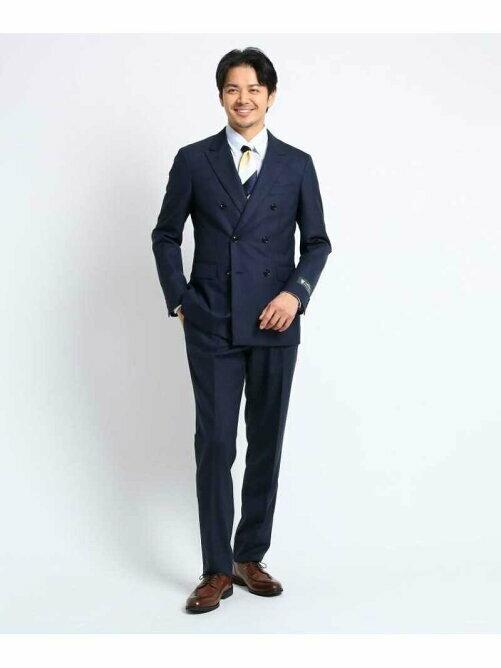 シャドーストライプスーツ Fabric by DORMEUIL