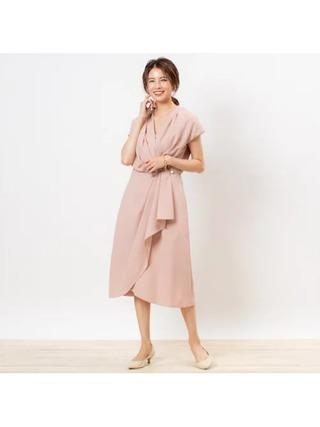 アシメドレープドレス