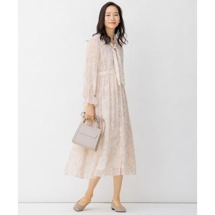 シフォン オリジナルプリント ロングドレス