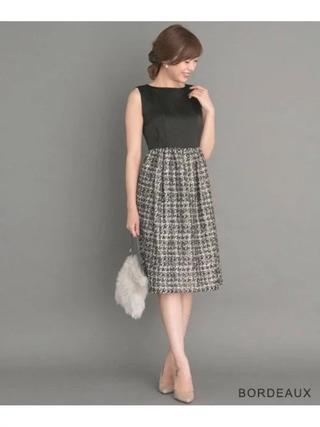 ラメジャガードドレス