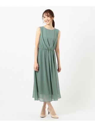 アシメタックミディ ドレス