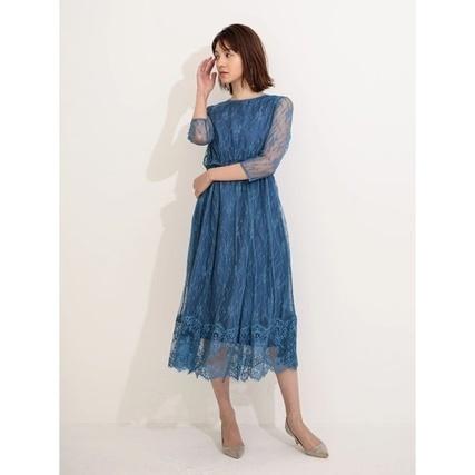 CA.チュールレースロングドレス