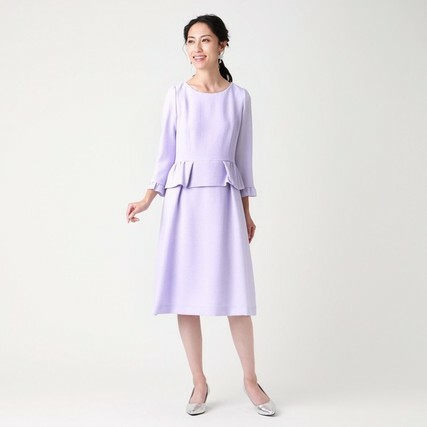 ダブルクレープドレス