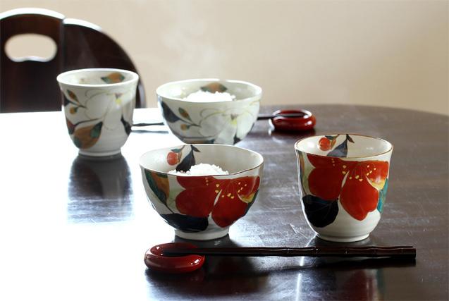 美濃焼 和藍 花かいろう 夫婦茶碗 箸セット