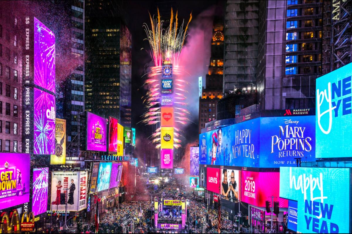 ニューヨークの新年のカウントダウン