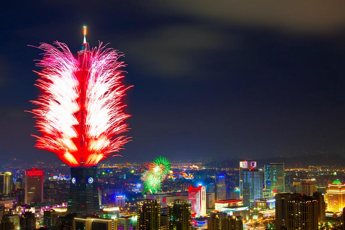 台湾の新年のカウントダウン