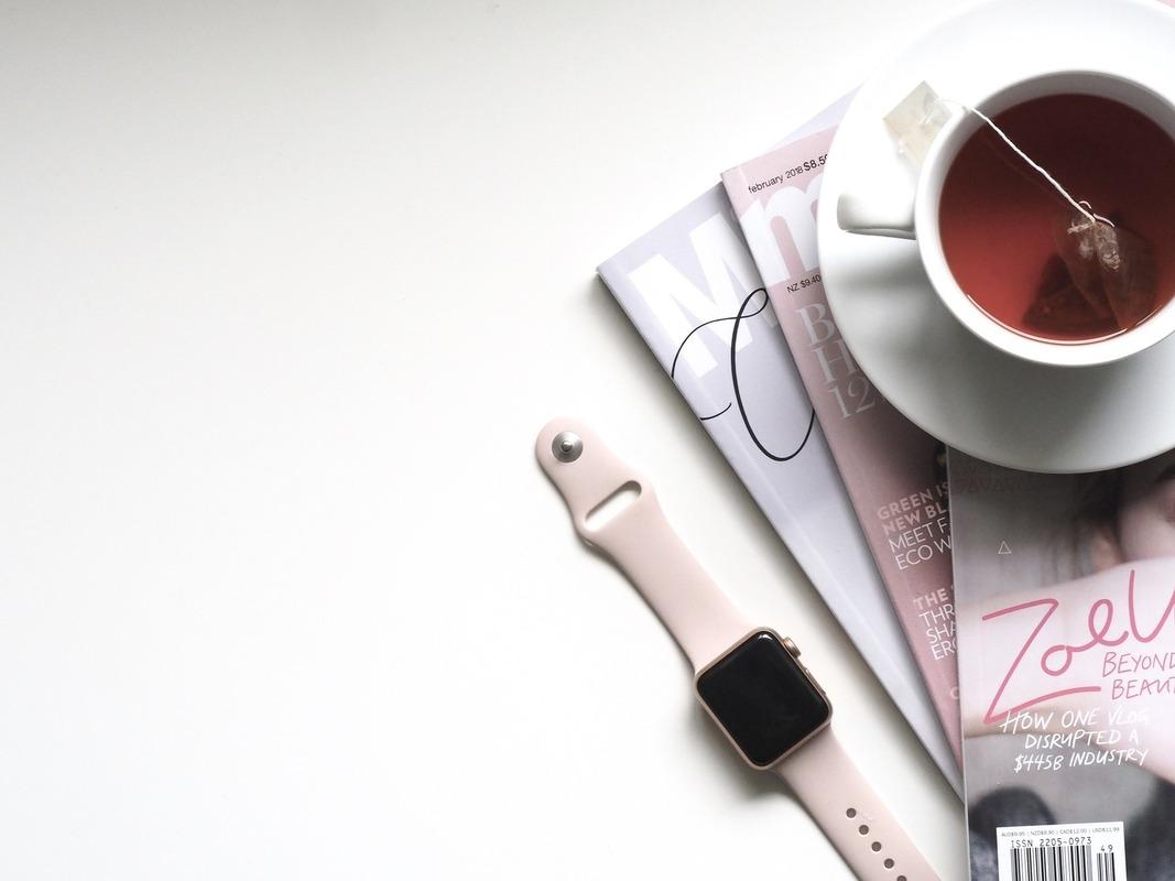 紅茶と雑誌