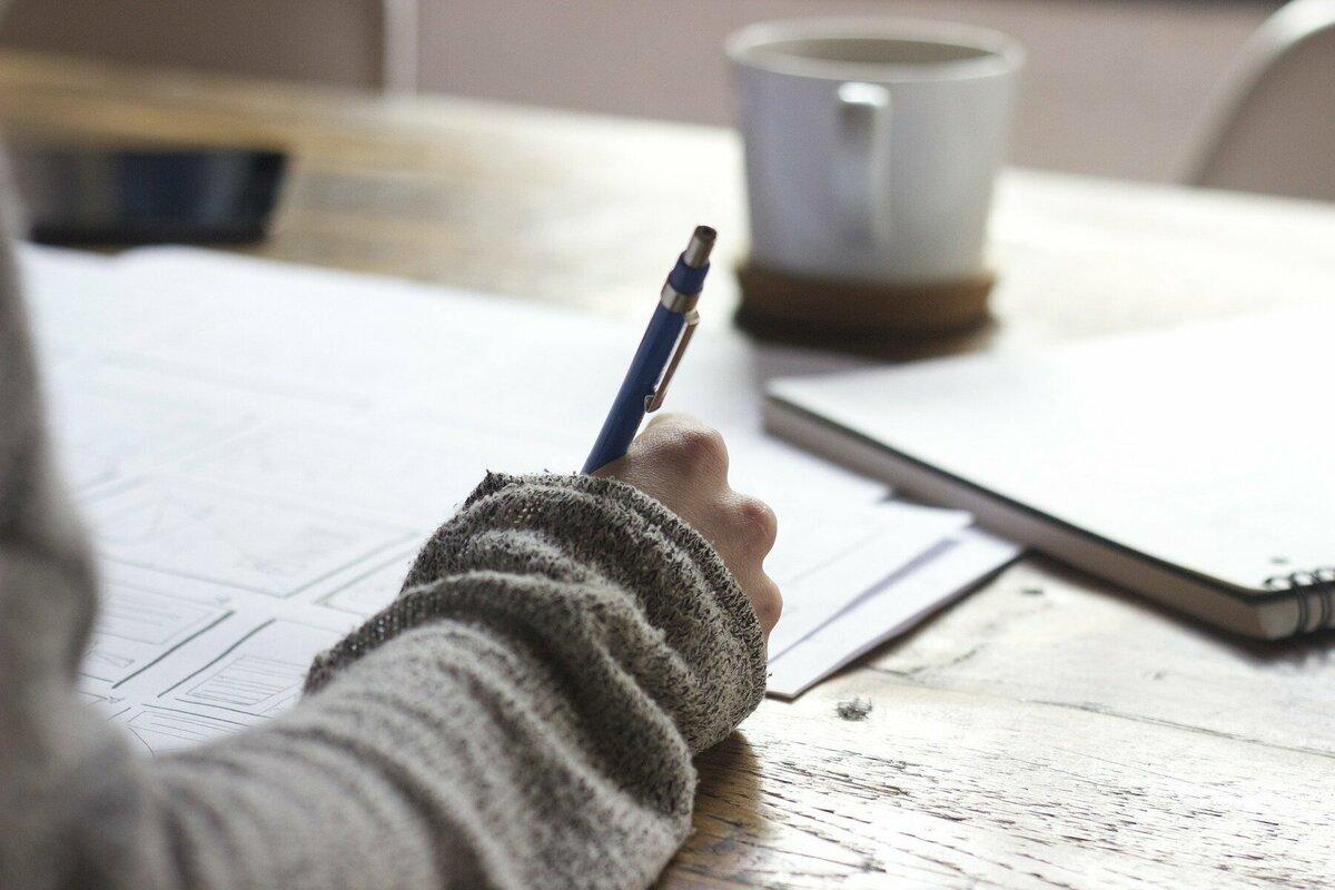 文章を書く人