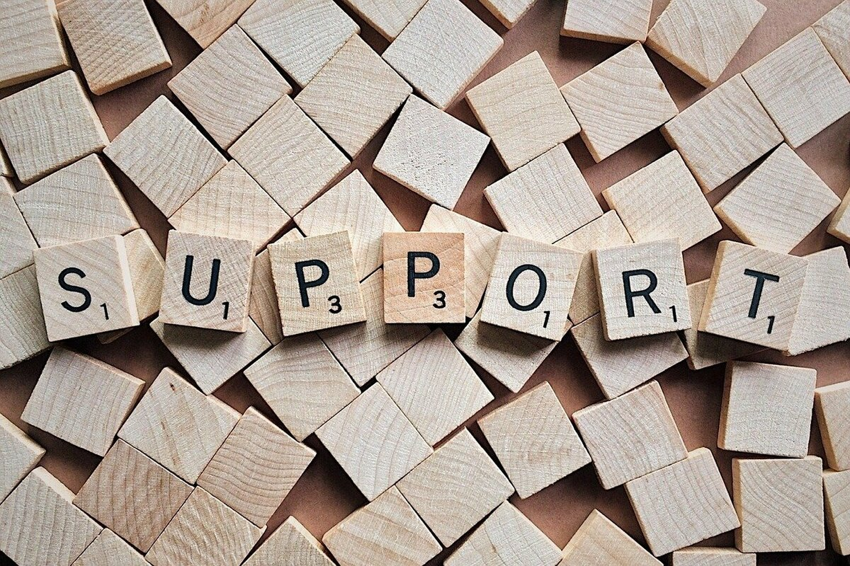 SUPPORTの文字